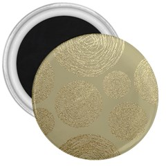 Modern, Gold,polka Dots, Metallic,elegant,chic,hand Painted, Beautiful,contemporary,deocrative,decor 3  Magnets