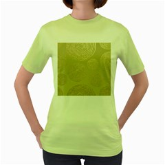 Modern, Gold,polka Dots, Metallic,elegant,chic,hand Painted, Beautiful,contemporary,deocrative,decor Women s Green T Shirt