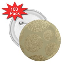 Modern, Gold,polka Dots, Metallic,elegant,chic,hand Painted, Beautiful,contemporary,deocrative,decor 2 25  Buttons (100 Pack)