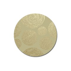 Modern, Gold,polka Dots, Metallic,elegant,chic,hand Painted, Beautiful,contemporary,deocrative,decor Magnet 3  (round)