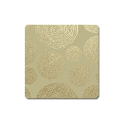 Modern, Gold,polka Dots, Metallic,elegant,chic,hand Painted, Beautiful,contemporary,deocrative,decor Square Magnet