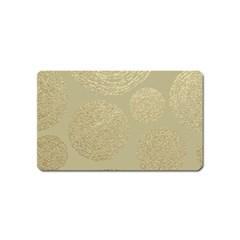 Modern, Gold,polka Dots, Metallic,elegant,chic,hand Painted, Beautiful,contemporary,deocrative,decor Magnet (name Card)