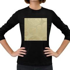 Modern, Gold,polka Dots, Metallic,elegant,chic,hand Painted, Beautiful,contemporary,deocrative,decor Women s Long Sleeve Dark T Shirts
