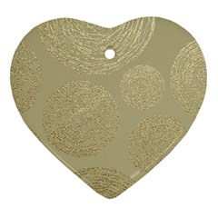 Modern, Gold,polka Dots, Metallic,elegant,chic,hand Painted, Beautiful,contemporary,deocrative,decor Heart Ornament (two Sides)