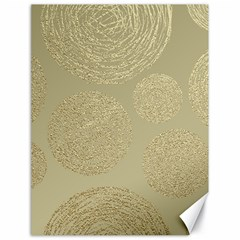Modern, Gold,polka Dots, Metallic,elegant,chic,hand Painted, Beautiful,contemporary,deocrative,decor Canvas 18  X 24   by 8fugoso