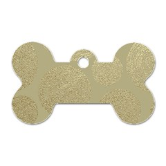 Modern, Gold,polka Dots, Metallic,elegant,chic,hand Painted, Beautiful,contemporary,deocrative,decor Dog Tag Bone (two Sides)