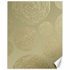 Modern, Gold,polka Dots, Metallic,elegant,chic,hand Painted, Beautiful,contemporary,deocrative,decor Canvas 11  X 14