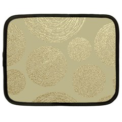 Modern, Gold,polka Dots, Metallic,elegant,chic,hand Painted, Beautiful,contemporary,deocrative,decor Netbook Case (large)