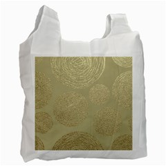 Modern, Gold,polka Dots, Metallic,elegant,chic,hand Painted, Beautiful,contemporary,deocrative,decor Recycle Bag (one Side)