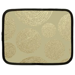 Modern, Gold,polka Dots, Metallic,elegant,chic,hand Painted, Beautiful,contemporary,deocrative,decor Netbook Case (xl)  by 8fugoso