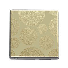 Modern, Gold,polka Dots, Metallic,elegant,chic,hand Painted, Beautiful,contemporary,deocrative,decor Memory Card Reader (square)