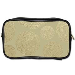 Modern, Gold,polka Dots, Metallic,elegant,chic,hand Painted, Beautiful,contemporary,deocrative,decor Toiletries Bags