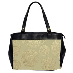 Modern, Gold,polka Dots, Metallic,elegant,chic,hand Painted, Beautiful,contemporary,deocrative,decor Office Handbags (2 Sides)