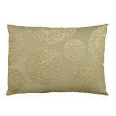 Modern, Gold,polka Dots, Metallic,elegant,chic,hand Painted, Beautiful,contemporary,deocrative,decor Pillow Case (two Sides)