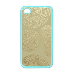 Modern, Gold,polka Dots, Metallic,elegant,chic,hand Painted, Beautiful,contemporary,deocrative,decor Apple Iphone 4 Case (color)