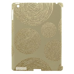 Modern, Gold,polka Dots, Metallic,elegant,chic,hand Painted, Beautiful,contemporary,deocrative,decor Apple Ipad 3/4 Hardshell Case (compatible With Smart Cover)