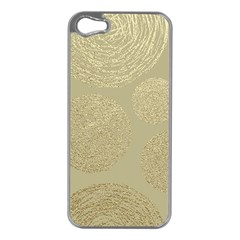 Modern, Gold,polka Dots, Metallic,elegant,chic,hand Painted, Beautiful,contemporary,deocrative,decor Apple Iphone 5 Case (silver)