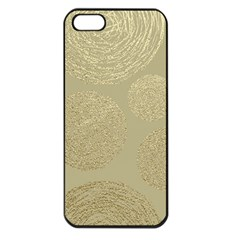 Modern, Gold,polka Dots, Metallic,elegant,chic,hand Painted, Beautiful,contemporary,deocrative,decor Apple Iphone 5 Seamless Case (black)