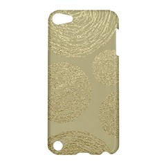 Modern, Gold,polka Dots, Metallic,elegant,chic,hand Painted, Beautiful,contemporary,deocrative,decor Apple Ipod Touch 5 Hardshell Case