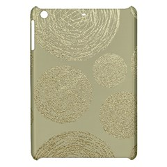 Modern, Gold,polka Dots, Metallic,elegant,chic,hand Painted, Beautiful,contemporary,deocrative,decor Apple Ipad Mini Hardshell Case