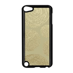 Modern, Gold,polka Dots, Metallic,elegant,chic,hand Painted, Beautiful,contemporary,deocrative,decor Apple Ipod Touch 5 Case (black)