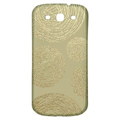 Modern, Gold,polka Dots, Metallic,elegant,chic,hand Painted, Beautiful,contemporary,deocrative,decor Samsung Galaxy S3 S Iii Classic Hardshell Back Case