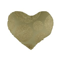 Modern, Gold,polka Dots, Metallic,elegant,chic,hand Painted, Beautiful,contemporary,deocrative,decor Standard 16  Premium Heart Shape Cushions