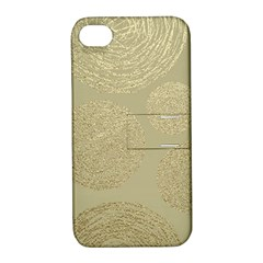 Modern, Gold,polka Dots, Metallic,elegant,chic,hand Painted, Beautiful,contemporary,deocrative,decor Apple Iphone 4/4s Hardshell Case With Stand