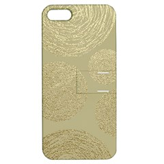 Modern, Gold,polka Dots, Metallic,elegant,chic,hand Painted, Beautiful,contemporary,deocrative,decor Apple Iphone 5 Hardshell Case With Stand