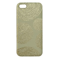 Modern, Gold,polka Dots, Metallic,elegant,chic,hand Painted, Beautiful,contemporary,deocrative,decor Apple Iphone 5 Premium Hardshell Case