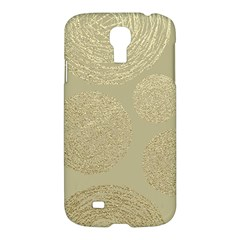 Modern, Gold,polka Dots, Metallic,elegant,chic,hand Painted, Beautiful,contemporary,deocrative,decor Samsung Galaxy S4 I9500/i9505 Hardshell Case
