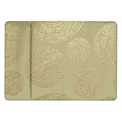 Modern, Gold,polka Dots, Metallic,elegant,chic,hand Painted, Beautiful,contemporary,deocrative,decor Samsung Galaxy Tab 10 1  P7500 Flip Case