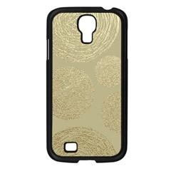 Modern, Gold,polka Dots, Metallic,elegant,chic,hand Painted, Beautiful,contemporary,deocrative,decor Samsung Galaxy S4 I9500/ I9505 Case (black)