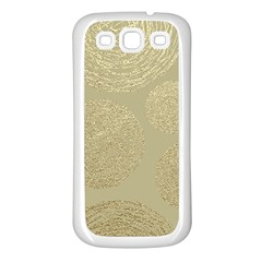 Modern, Gold,polka Dots, Metallic,elegant,chic,hand Painted, Beautiful,contemporary,deocrative,decor Samsung Galaxy S3 Back Case (white)