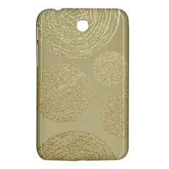 Modern, Gold,polka Dots, Metallic,elegant,chic,hand Painted, Beautiful,contemporary,deocrative,decor Samsung Galaxy Tab 3 (7 ) P3200 Hardshell Case