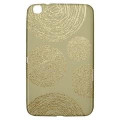 Modern, Gold,polka Dots, Metallic,elegant,chic,hand Painted, Beautiful,contemporary,deocrative,decor Samsung Galaxy Tab 3 (8 ) T3100 Hardshell Case