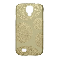 Modern, Gold,polka Dots, Metallic,elegant,chic,hand Painted, Beautiful,contemporary,deocrative,decor Samsung Galaxy S4 Classic Hardshell Case (pc+silicone)