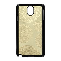Modern, Gold,polka Dots, Metallic,elegant,chic,hand Painted, Beautiful,contemporary,deocrative,decor Samsung Galaxy Note 3 Neo Hardshell Case (black)