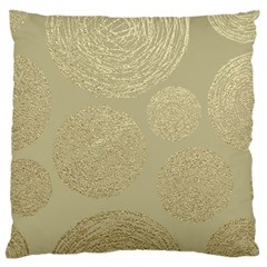 Modern, Gold,polka Dots, Metallic,elegant,chic,hand Painted, Beautiful,contemporary,deocrative,decor Large Flano Cushion Case (two Sides)