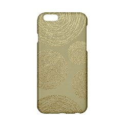Modern, Gold,polka Dots, Metallic,elegant,chic,hand Painted, Beautiful,contemporary,deocrative,decor Apple Iphone 6/6s Hardshell Case