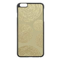 Modern, Gold,polka Dots, Metallic,elegant,chic,hand Painted, Beautiful,contemporary,deocrative,decor Apple Iphone 6 Plus/6s Plus Black Enamel Case