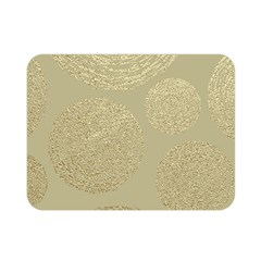 Modern, Gold,polka Dots, Metallic,elegant,chic,hand Painted, Beautiful,contemporary,deocrative,decor Double Sided Flano Blanket (mini)