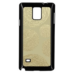 Modern, Gold,polka Dots, Metallic,elegant,chic,hand Painted, Beautiful,contemporary,deocrative,decor Samsung Galaxy Note 4 Case (black)