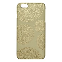 Modern, Gold,polka Dots, Metallic,elegant,chic,hand Painted, Beautiful,contemporary,deocrative,decor Iphone 6 Plus/6s Plus Tpu Case