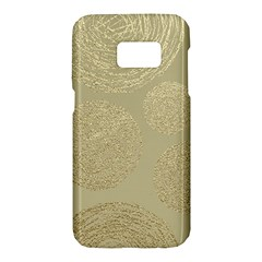 Modern, Gold,polka Dots, Metallic,elegant,chic,hand Painted, Beautiful,contemporary,deocrative,decor Samsung Galaxy S7 Hardshell Case
