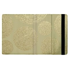 Modern, Gold,polka Dots, Metallic,elegant,chic,hand Painted, Beautiful,contemporary,deocrative,decor Apple Ipad Pro 12 9   Flip Case