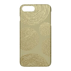 Modern, Gold,polka Dots, Metallic,elegant,chic,hand Painted, Beautiful,contemporary,deocrative,decor Apple Iphone 7 Plus Hardshell Case