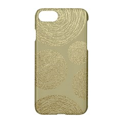 Modern, Gold,polka Dots, Metallic,elegant,chic,hand Painted, Beautiful,contemporary,deocrative,decor Apple Iphone 7 Hardshell Case