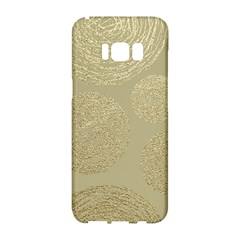 Modern, Gold,polka Dots, Metallic,elegant,chic,hand Painted, Beautiful,contemporary,deocrative,decor Samsung Galaxy S8 Hardshell Case