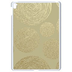 Modern, Gold,polka Dots, Metallic,elegant,chic,hand Painted, Beautiful,contemporary,deocrative,decor Apple Ipad Pro 9 7   White Seamless Case by 8fugoso